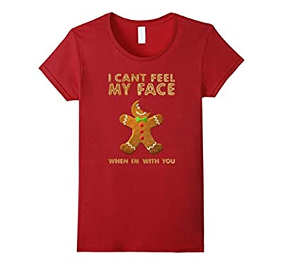 Can't Feel My Face Gingerbread Funny Christmas T-Shirt Tee