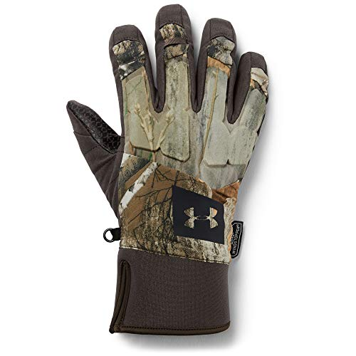 Under Armour Men's Mid Season Windstopper Gloves, Real Tree Edge (991)/Black, Medium (Under Armour Touch Screen Gloves)
