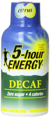 Hour Energy Decaf Citrus Count