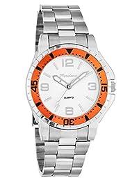 Marciano Men's | Classic Sport-Casual Stainless Steel Bracelet Watch With Orange Bezel | FC0185