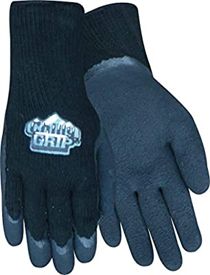 Chilly Grip Foam Latex Glove, Black, Size Medium, Sold by Pair