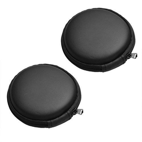 Price comparison product image Universal Souvenir Portable Mini Earphone Zip Case Storage Bag / Wire Organizer Zip Bag (2 Cases)