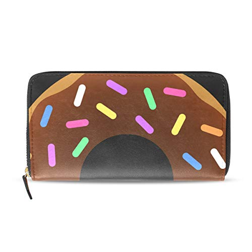 Womens Wallets Coffee and Donuts Leather Passport Wallet Coin Purse Girls Handbags