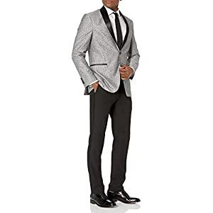 Kenneth Cole REACTION Mens Standard Techni-Cole Slim Fit Stretch Tuxedo