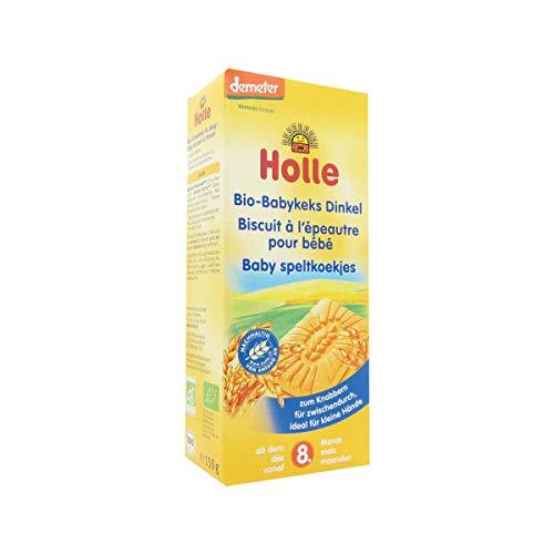 Holle Organic (Bio) Spelt (Dinkel) Wheat Baby Biscuits (Babykeks) (150g) – 8 Months+