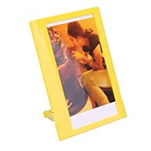 CAIUL 5 inches Colorful Photo Frame for Fujifilm Instax 210/ W300 Films, 1 pcs, Yellow