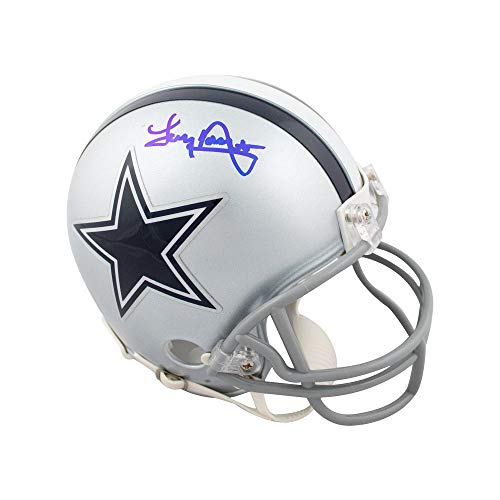 Tony Dorsett Autographed Dallas Cowboys Mini Football Helmet - JSA COA