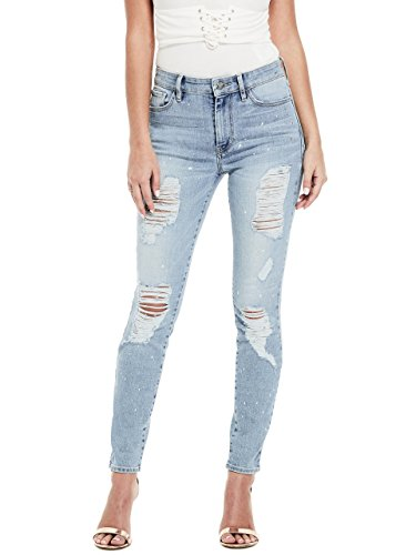 Guess Junior's 1981 Skinny Jean with Foil Splatter, Light Wash, - Guess Junior