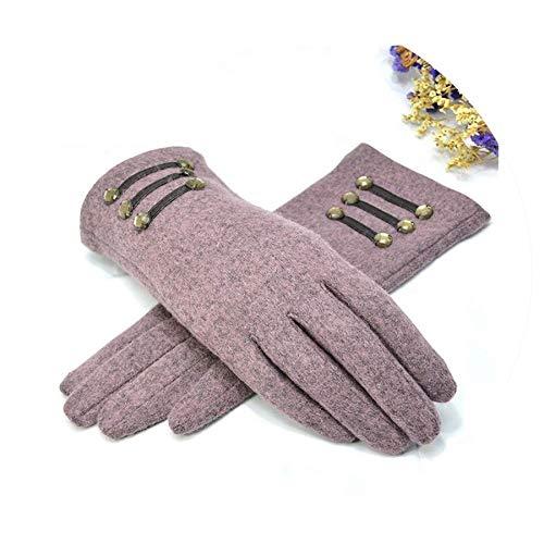 Shining4U exercise-gloves Autumn Mitten Cotton Wrist Screen Glove Solid Woman Wool Glove