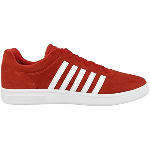 Red Cheswick Fiery K white 669 swiss Suede 05676 White Court Red XEqIIwxBA