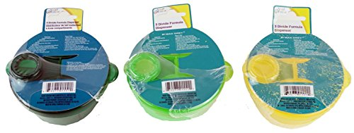 Baby Divided Formula Dispenser ~ with 3 Compartments and a