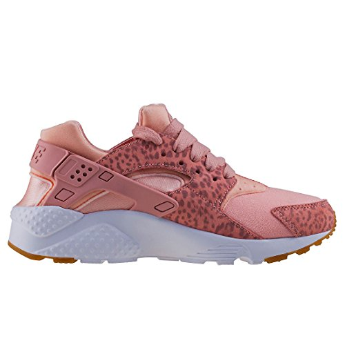 Nike Youth Huarache Run SE Textile Trainers Coral Stardust