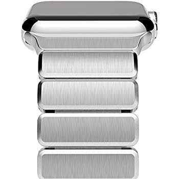 Apple Watch Series 3 Band, Oittm 42mm Stainless Steel Replacement Strap Link Bracelet Metal iWatch Band with Double Button Folding Clasp for Apple Watch Series 3/Series 2/Series 1 42mm (Silver)