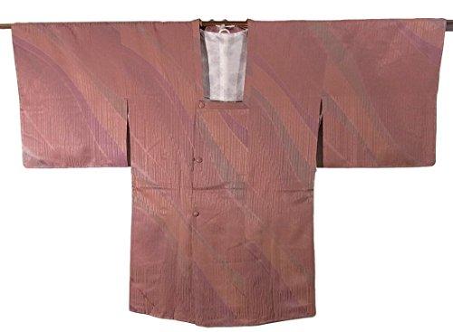 ぬいぐるみ風見落とすリサイクル 道行コート 織り 染め 流水模様 正絹 裄64.5cm 身丈86cm