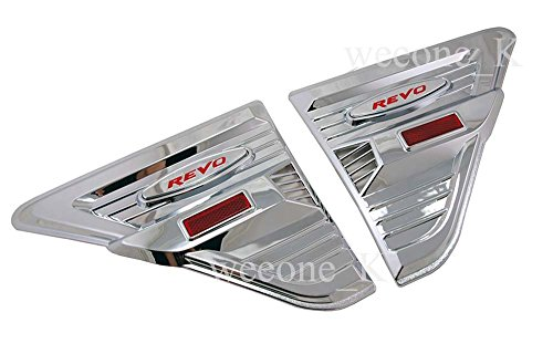 K1AutoParts Chrome Side Lamp Side Vents Indicator Cover For Toyota Hilux Revo Pickup 2015 2016