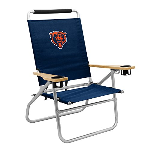 Logo Brands NFL Chicago Bears Beach Chair, One Size, Navy -