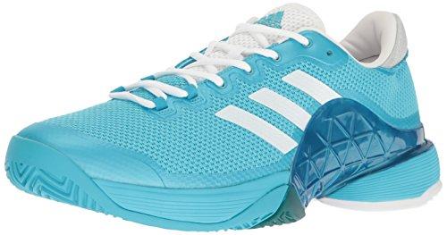 adidas Performance Men's Barricade 2017 Tennis Shoe, Samba Blue/White/White, 9 M US