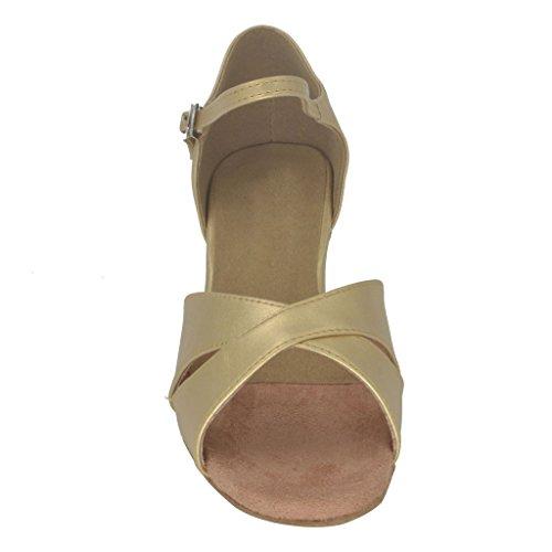 Buge Kvinna Peep Toe Sandaler Latin Salsa Tango Balsal Dansskor Med 1,5 Klack
