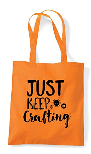 Crafting Crafty Bag Statement Keep Tote Shopper Orange Just pv4q57