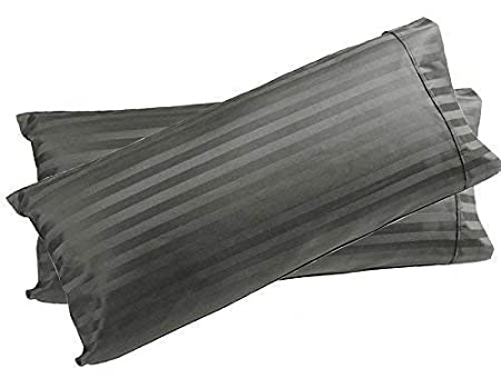 400 Thread Count Bedding/_linens Body Pillow Cover Pillowcase 100/% Cotton Hypoallergenic Non-Zippered Hotel Quality Dark Grey Solid