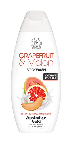 Australian Gold Body Wash, Gentle & Moisturizing with Nutrient Rich Kakadu Plum & Vitamin E, Grapefruit and Melon, 16.5 Ounce (Pack of ()