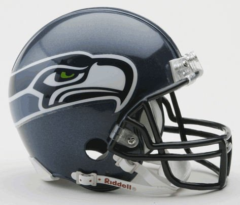 2004 Authentic Throwback Helmet - Riddell NFL Seattle Seahawks 2002-2011 Throwback Replica Vsr4 Mini Football Helmet