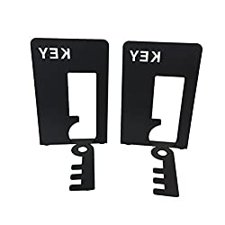 1pair KEY Alphabet Book End Metal Bookends Bookend for Study Home School Library Office Decoration