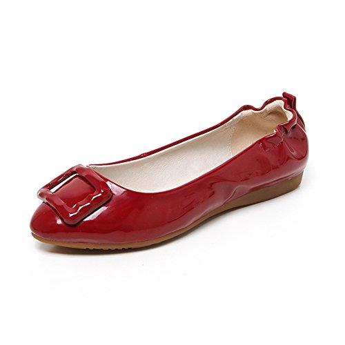 Señora puntiagudos zapatos planos/rollo de huevo claro zapatos/remolino en los zapatos de primavera D