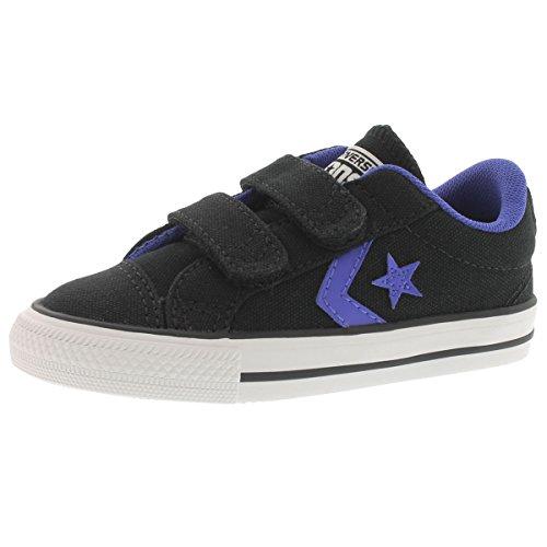 Converse Infants' Star Player EV Canvas Sneaker Black 7 M US