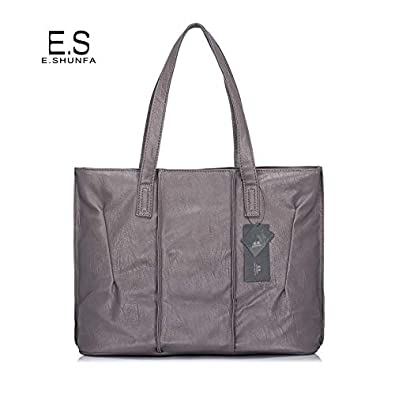 Simple Casual Tote Bag Women Shoulder Bags New Arrival PU Leather Womens Bag Black Red Gray