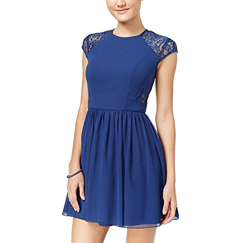 Fit amp; City Dress Flare Juniors' Lace 3 Navy Studios Detail vxwqUfC