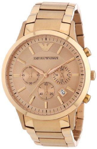 Emporio Armani Chronograph Rose Gold Tone Ladies Watch AR2452