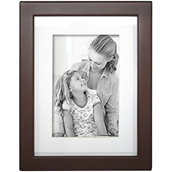 Amazon.com - MCS Industries Solid Wood Gallery Frame, Walnut Brown ...