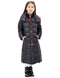 Tortor 1Bacha Kid Girls' Bowtie Ear Hooded Winter Maxi Long Down Coat Jacket