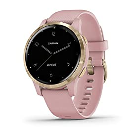 Garmin vivoactive 4S, Smaller-Sized GPS Smartwatch, Features Music, Body Energy Monitoring, Animated Workouts, Pulse Ox…