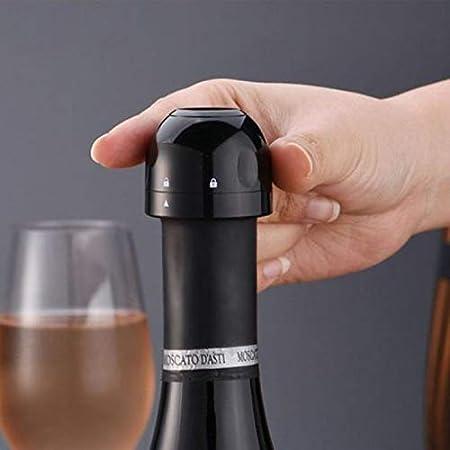 Sellador de botella profesional de tapón de champán de 3 piezas para champán Cava, tapón de botella de vino sellado de silicona, los mejores accesorios de champán de vino para champán espumoso