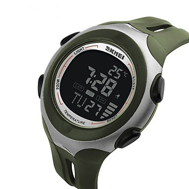 Lemumu 1080 Men Sport Multifunction Digital Watch Ambient Measurement Wristwatch Relogio Masculino Watches Green