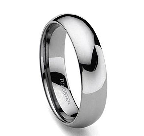 e Tungsten Classic Wedding band Promise Ring for Man or Woman Comfort fit- Sz8 ()