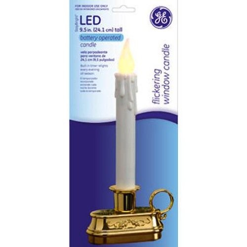 amazoncom nicolas holiday 78208 95 inch led win candle home improvement - Led Christmas Window Candles