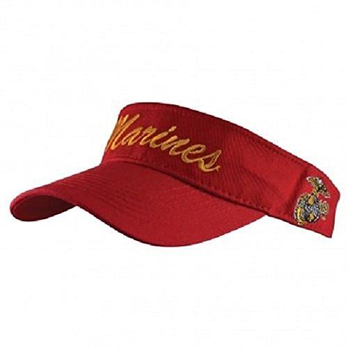 USMC Marine Marines Red EGA Letter Visor Cap Hat ()