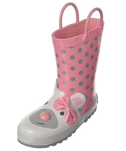 Laura Ashley Girl's All Over Print Waterproof Basic Rainboots