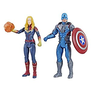 Avengers Marvel Endgame Captain America & Captain Marvel 2 Pack Characters from Marvel Cinematic Universe Mcu Movies