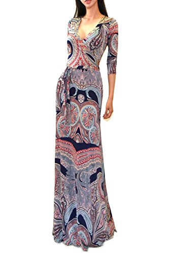 Buy maxi dress 3/4 length sleeves - 3