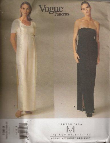 (Vogue 1689, Maternity Evening Dress, Size 14-18)