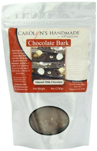 Carolyn's Handmade Gourmet Milk Chocolate Almond Bark Platinum Snack Bag 8oz