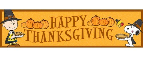 Amazon.com: Eureka Peanuts Classroom Banner, Happy Thanksgiving ...