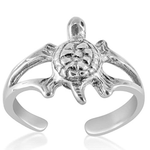 Turtle Toe Ring Beach Adjustable Fine Jewelry Sterling Silver 925