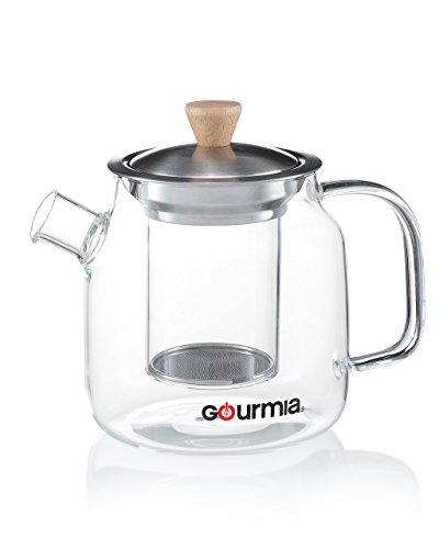 Gourmia Gtp9810 Glass Tea Pot Amp Infuser With Handle Lid