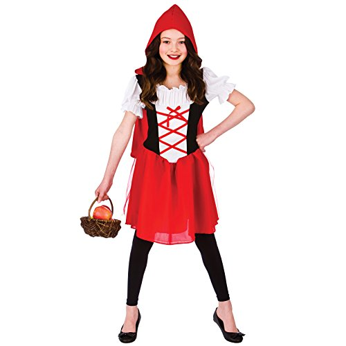 Uk Little Red Riding Costume Hood (Little Red Riding Hood (8-10) Girls Fancy Dress)