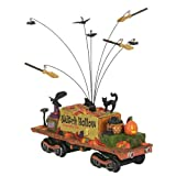 "Department56 Snow Village Accessories Halloween Witch Hollow Supply Car Lit Figurine, 3.39"", Multicolor"